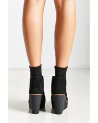 Urban Outfitters | Black Platform Lace-up Ankle Boot | Lyst