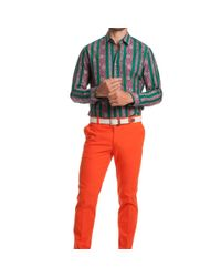 Mr Turk Red Swell Cropped Trouser for men