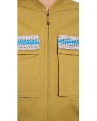 Ostwald Helgason | Natural Crochet Jacket - Khaki | Lyst