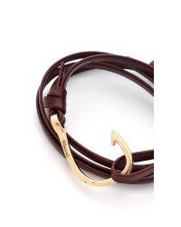 Miansai - Brown Hooked Leather Wrap Bracelet for Men - Lyst