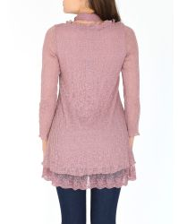 Izabel London | Pink Lace Button Up Top | Lyst