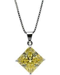 Carat* | Princess 1ct Canary Yellow Pendant | Lyst