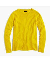 J.Crew Yellow Italian Cashmere Long-sleeve T-shirt