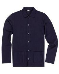 Sunspel Blue Men's Vintage Wool Jacket for men