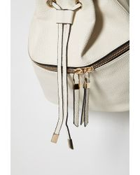 Forever 21 Natural Pebbled Faux Leather Backpack