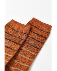 Urban Outfitters - Orange Gradient Stripe Sock for Men - Lyst