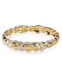 Nadri | Metallic Petals Bangle | Lyst