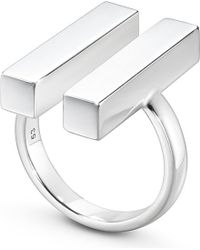 Georg Jensen | Metallic Aria Sterling Silver Two Bar Ring | Lyst