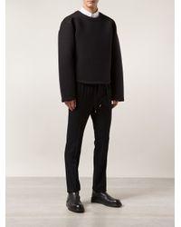 Kris Van Assche Black Flap Pocket Trousers for men
