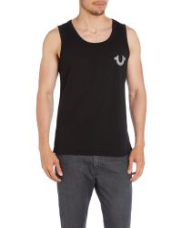True Religion | Black Crafted With Pride Printed Logo Vest for Men | Lyst