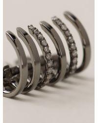 Elise Dray - Metallic Embellished Ear Cuff - Lyst