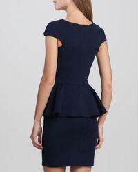 Talulah Blue Divine Stone Peplum Dress Navy