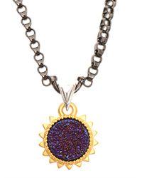 Eddie Borgo Metallic Challenge Pendant Necklace