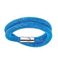 Swarovski | Blue Stardust Wrap Bracelet | Lyst