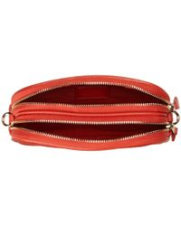 COACH Red Polished Pebble Crossbody Pouch