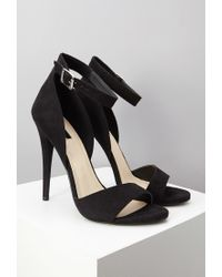 Forever 21 Black Faux Suede Ankle Strap Sandals You've Been Added To The Waitlist