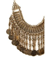 Forever 21 | Metallic Traveler Faux Coin Bib Necklace | Lyst