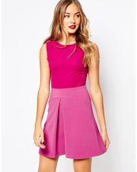 Closet | Closet Dress With Pleat A Line Skirt - Pink | Lyst