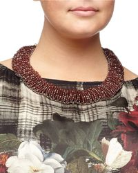 Marina Rinaldi | Purple Lynette Beaded Collar Necklace | Lyst