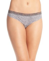 Calvin Klein | Multicolor 'invisibles' Lace Trim Thong | Lyst