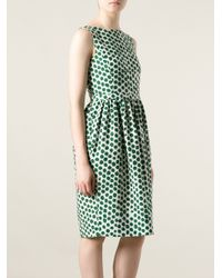 Moschino White Polka Dot Dress
