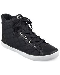 G by Guess | Black Ceeci Quilted High Top Sneakers | Lyst