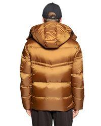 Emporio Armani Metallic Quilted Nylon Ripstop Down Jacket