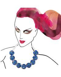 Shourouk | Blue Flower Necklace | Lyst