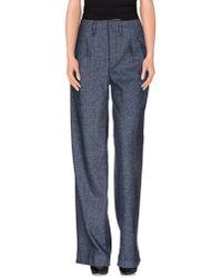 Haikure Blue Casual Trouser