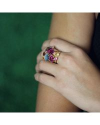 Federica Rettore | Pink Tourmaline Cluster Ring | Lyst