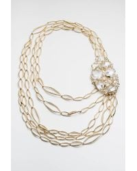 Alexis Bittar | Metallic Jagged Diamond Multi Strand Link Necklace You Might Also Like | Lyst