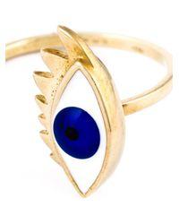 Delfina Delettrez   Blue Pearl Eye Ring   Lyst
