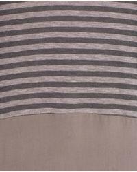 Zara | Gray Mixed Fabric T-shirt | Lyst