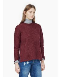 Mango | Purple Ribbed Sweater | Lyst