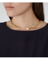 Reiss - Metallic Cleo Choker With Crystals From Swarovski - Lyst
