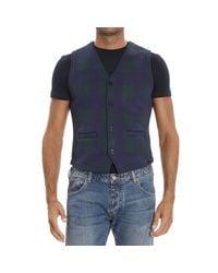 Hydrogen | Blue Waistcoat for Men | Lyst