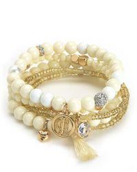 Juicy Couture   Multicolor Beaded Stretch Bracelet Set   Lyst