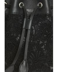 Rochas - Black Mini Duffle Bucket Bag - Lyst