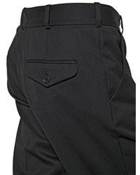 April77 Black 16.5Cm Cool Wool Trousers for men
