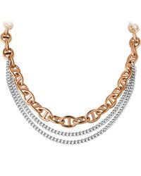 Dyrberg/Kern | Metallic Dyrberg/kern Triple Chain Necklace | Lyst