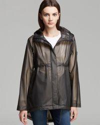 HUNTER Gray Raincoat Original Clear Smock