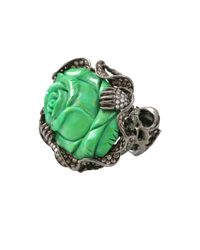 Wendy Yue | Green Turquoise Flower Ring | Lyst
