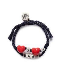 Venessa Arizaga - Black 'love 2 Love U Baby' Bracelet - Lyst