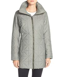 The North Face - Gray Arlayne Quilted Parka - Lyst