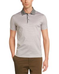 BOSS Gray Slim-fit Polo Shirt In Mercerised Cotton: 'ancona 21' for men