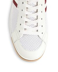 Bally - White Aikane Perforated Leather High-top Sneakers for Men - Lyst