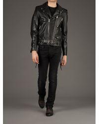 Saint Laurent | Black Biker Jacket for Men | Lyst