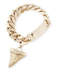 Givenchy - Metallic Textured Shark Tooth Bracelet - Lyst