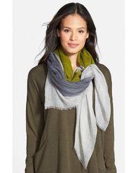 Eileen Fisher Green Wool & Silk Scarf