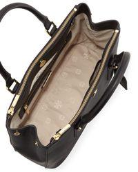 Tory Burch - Black Robinson Mini Double-zip Tote Bag - Lyst